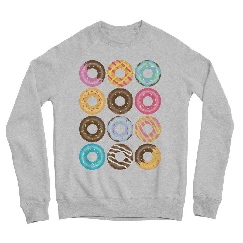 Yummy Donut Men's Sponge Fleece Sweatshirt by Beryl Design Shop