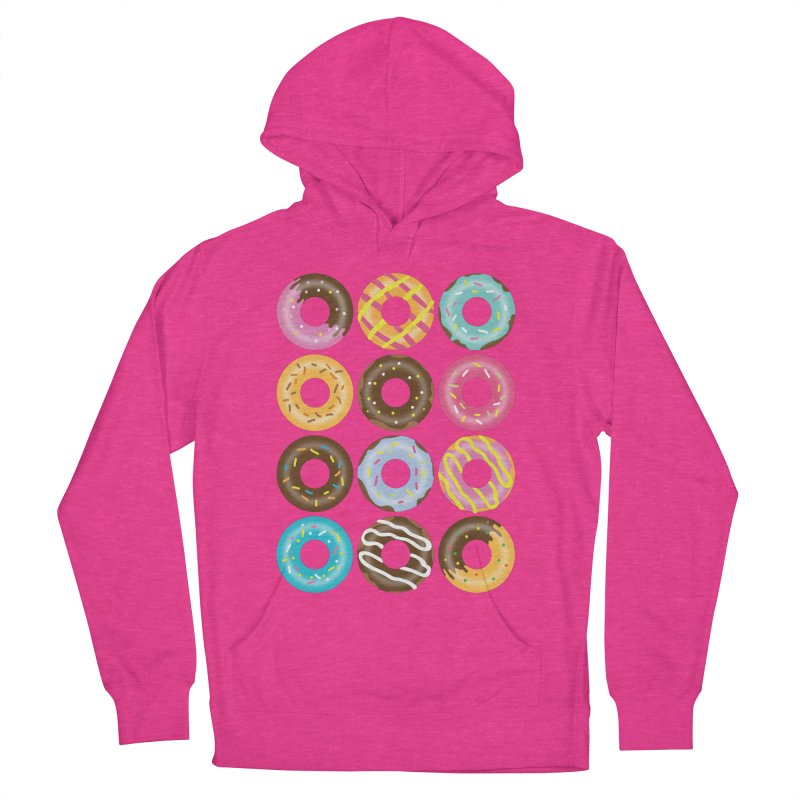 Yummy Donut Women's French Terry Pullover Hoody by Beryl Design Shop