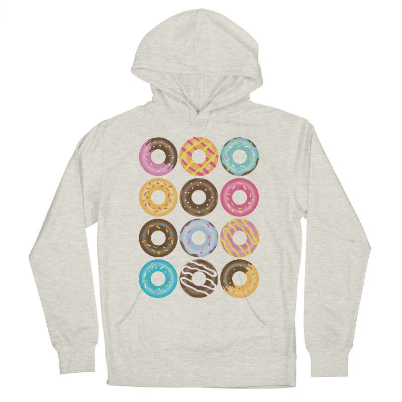 Yummy Donut Men's French Terry Pullover Hoody by Beryl Design Shop