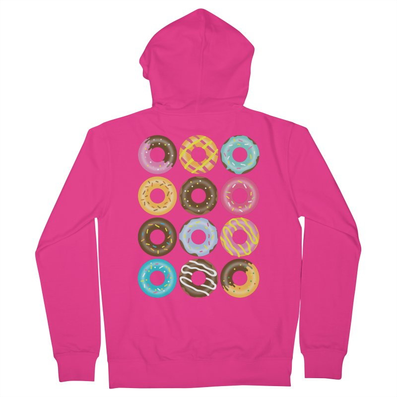 Yummy Donut Men's French Terry Zip-Up Hoody by Beryl Design Shop