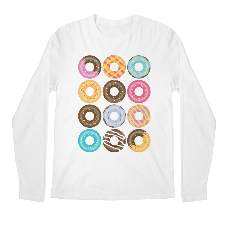 Yummy Donut Men's Regular Longsleeve T-Shirt by Beryl Design Shop