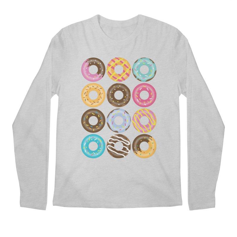 Yummy Donut Men's Regular Longsleeve T-Shirt by Beryl Design Shop