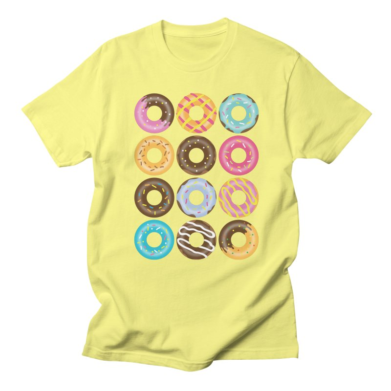 Yummy Donut Men's Regular T-Shirt by Beryl Design Shop