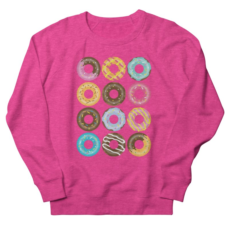 Yummy Donut Women's French Terry Sweatshirt by Beryl Design Shop