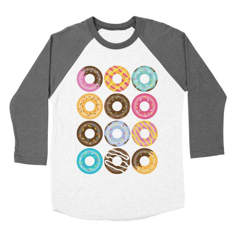 Yummy Donut Women's Baseball Triblend Longsleeve T-Shirt by Beryl Design Shop