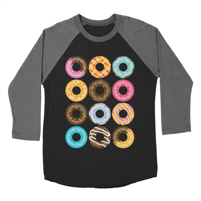 Yummy Donut Women's Baseball Triblend Longsleeve T-Shirt by Beryl Design Shop