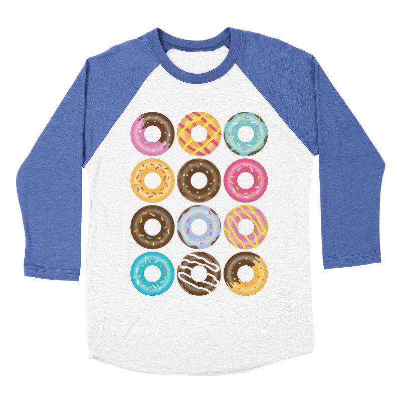 Yummy Donut Men's Baseball Triblend Longsleeve T-Shirt by Beryl Design Shop