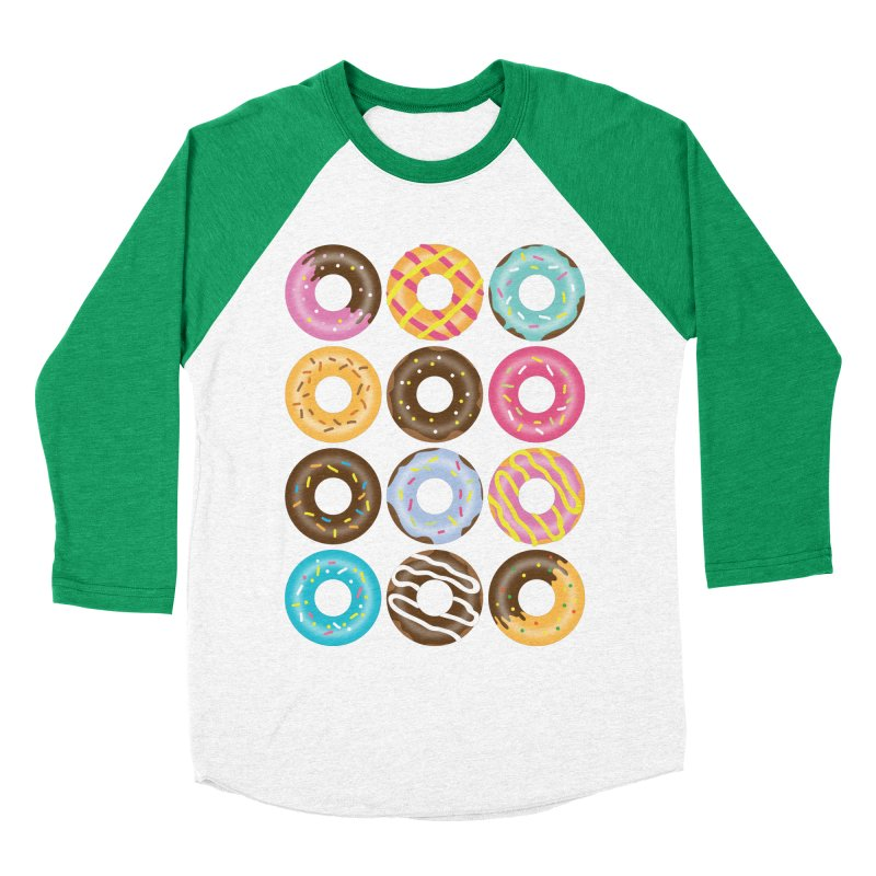 Yummy Donut Men's Baseball Triblend Longsleeve T-Shirt by Beryl Design Shop