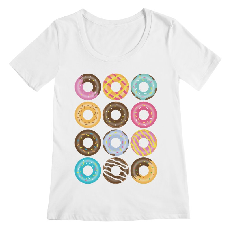 Yummy Donut Women's Regular Scoop Neck by Beryl Design Shop