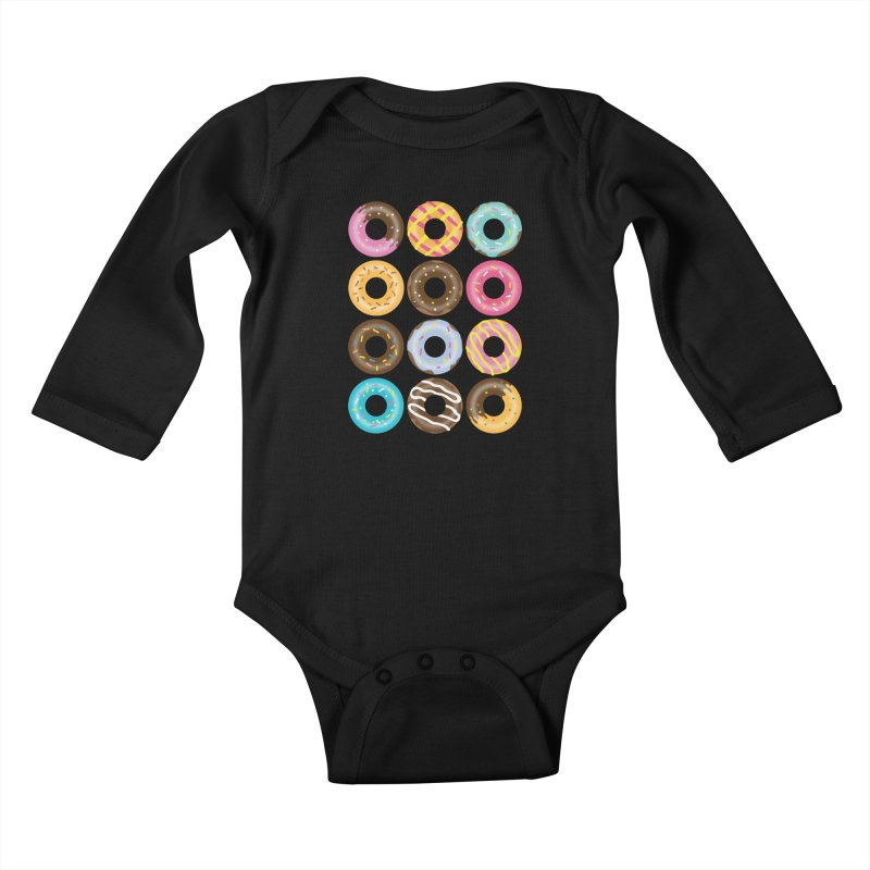 Yummy Donut Kids Baby Longsleeve Bodysuit by Beryl Design Shop