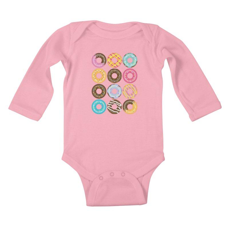 Yummy Donut Kids Baby Longsleeve Bodysuit by Beryl Design Shop