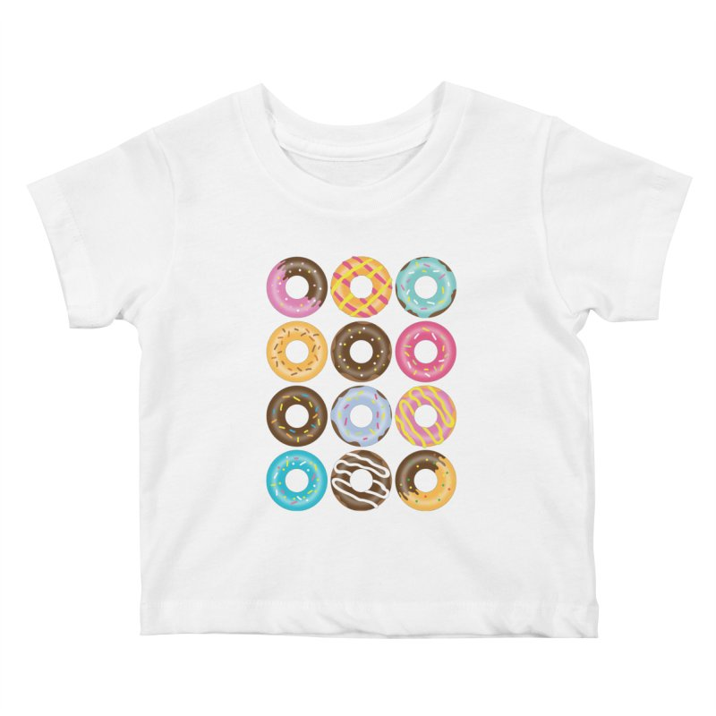 Yummy Donut Kids Baby T-Shirt by Beryl Design Shop