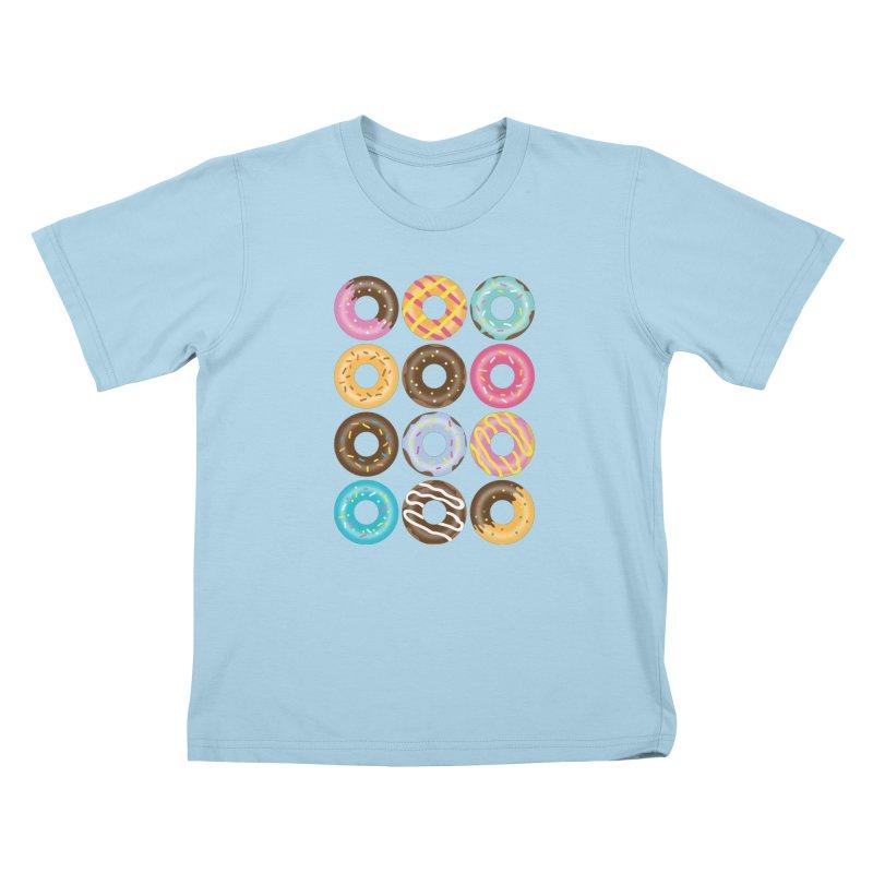 Yummy Donut Kids T-Shirt by Beryl Design Shop