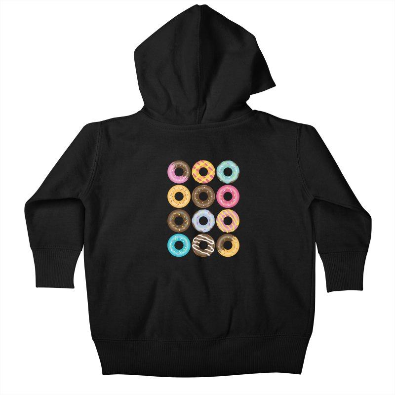 Yummy Donut Kids Baby Zip-Up Hoody by Beryl Design Shop