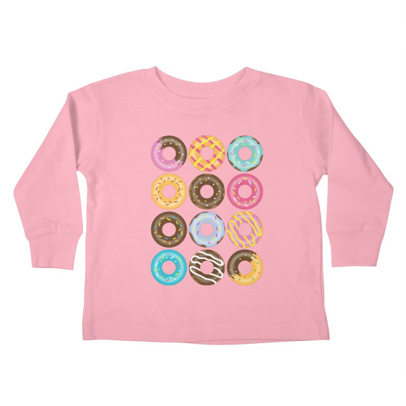 Yummy Donut Kids Toddler Longsleeve T-Shirt by Beryl Design Shop