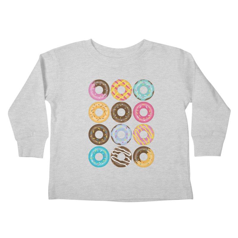 Yummy Donut Kids Toddler Longsleeve T-Shirt by Beryl Design Shop