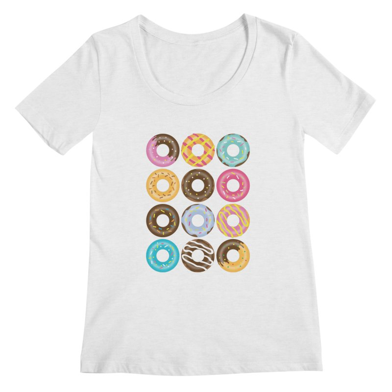 Yummy Donut Women's Regular Scoop Neck by Beryl Design Shop