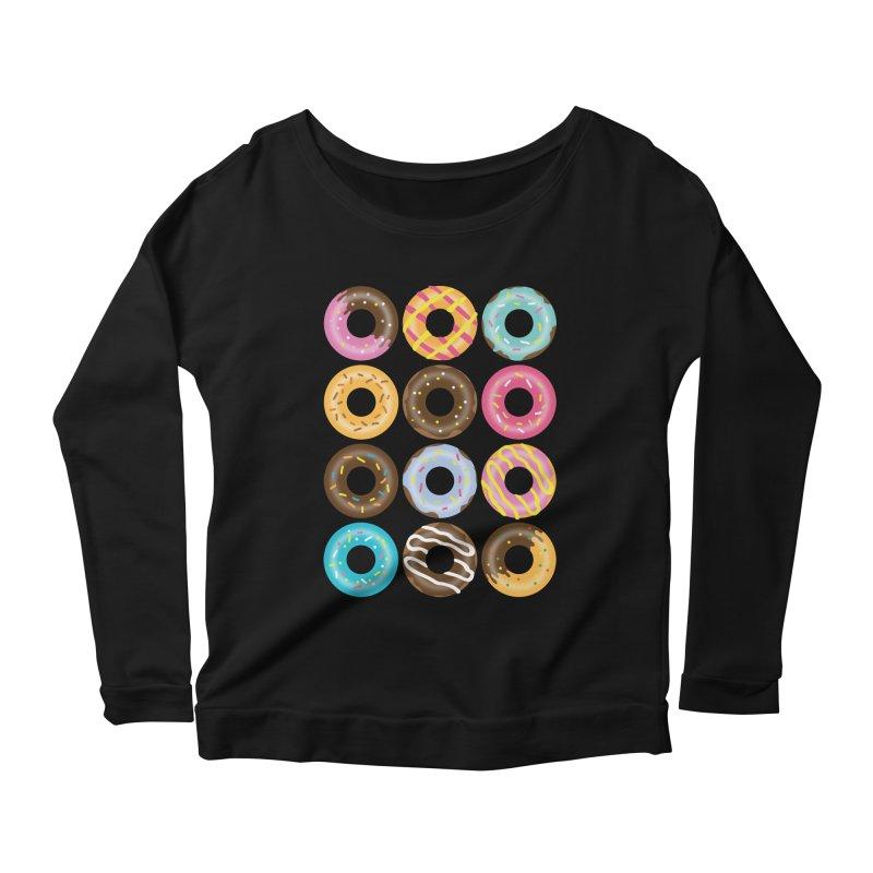 Yummy Donut Women's Scoop Neck Longsleeve T-Shirt by Beryl Design Shop