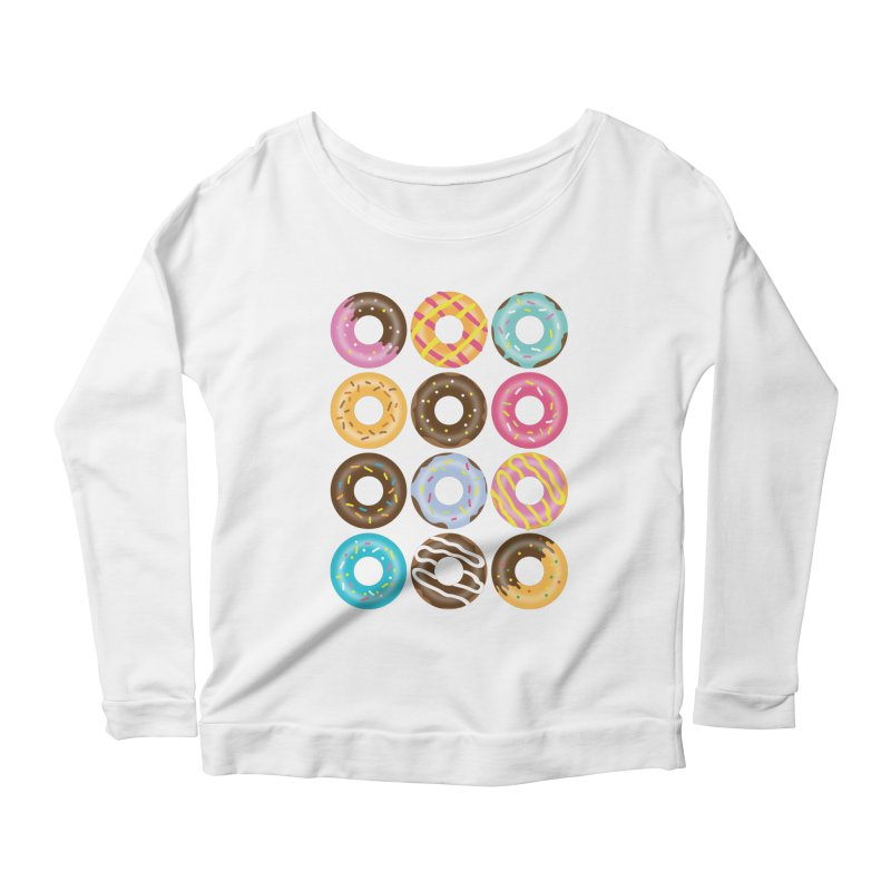 Yummy Donut Women's Scoop Neck Longsleeve T-Shirt by Beryl Design Shop
