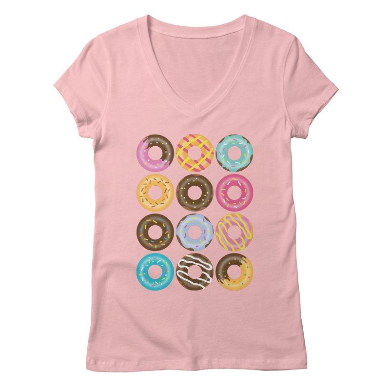 Yummy Donut Women's Regular V-Neck by Beryl Design Shop