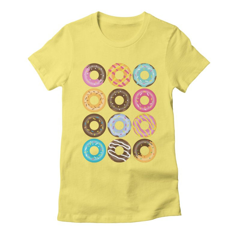 Yummy Donut Women's Fitted T-Shirt by Beryl Design Shop