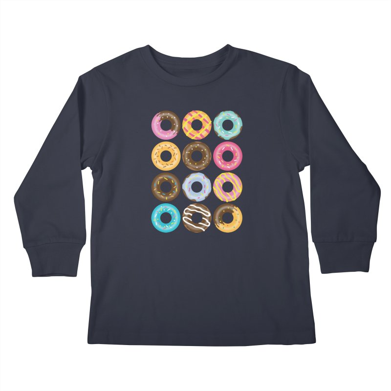 Yummy Donut Kids Longsleeve T-Shirt by Beryl Design Shop