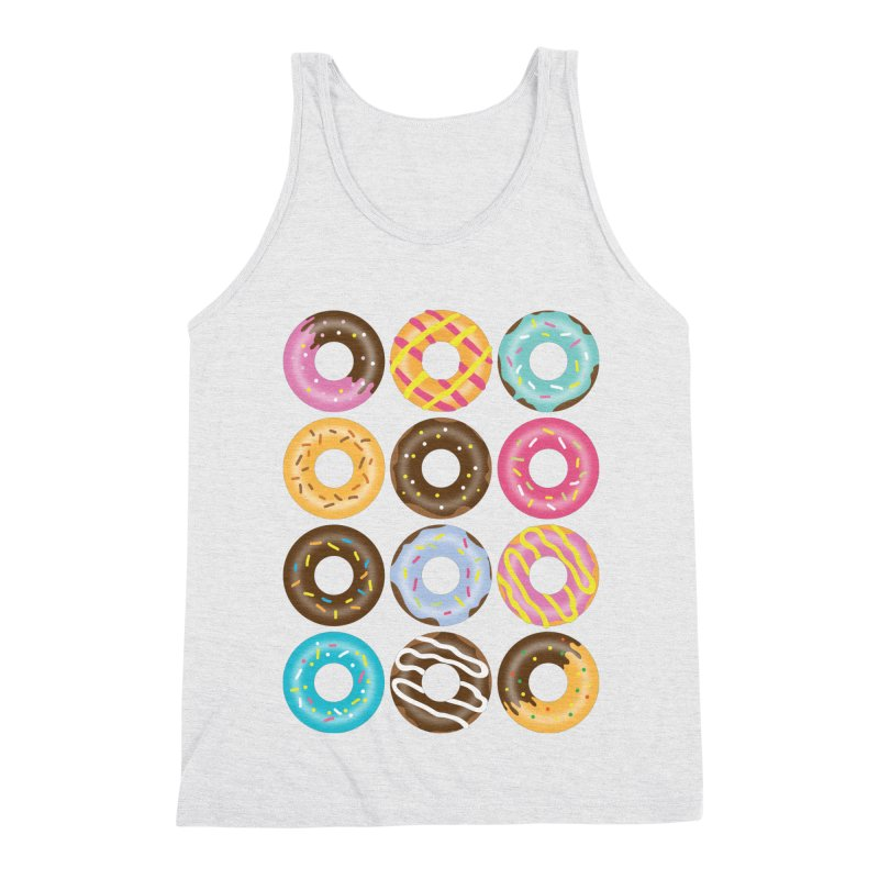 Yummy Donut Men's Triblend Tank by Beryl Design Shop