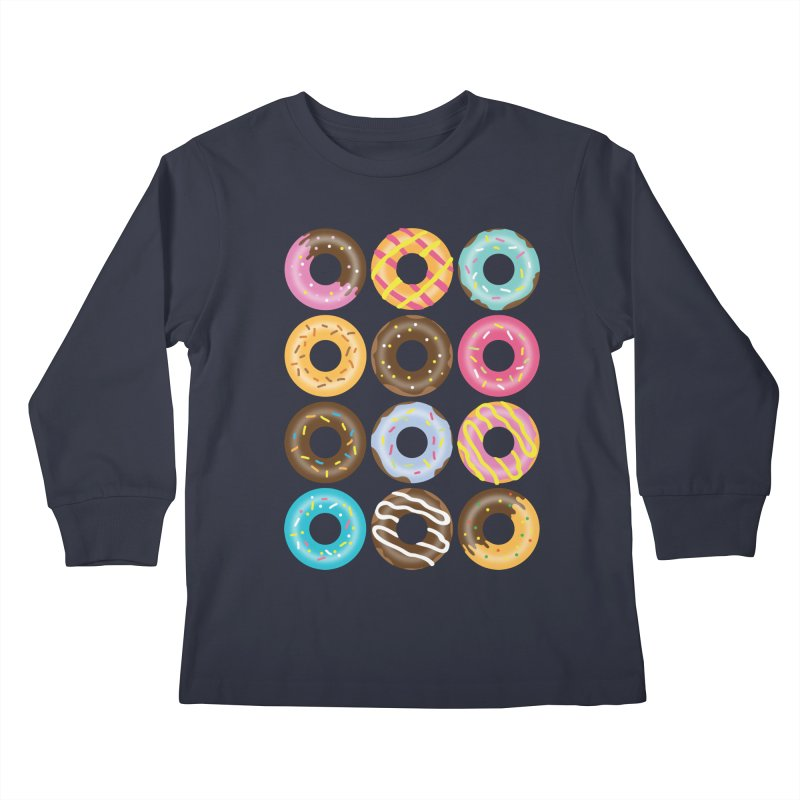 Yummy Donut Kids Longsleeve T-Shirt by Beryl Design Shop