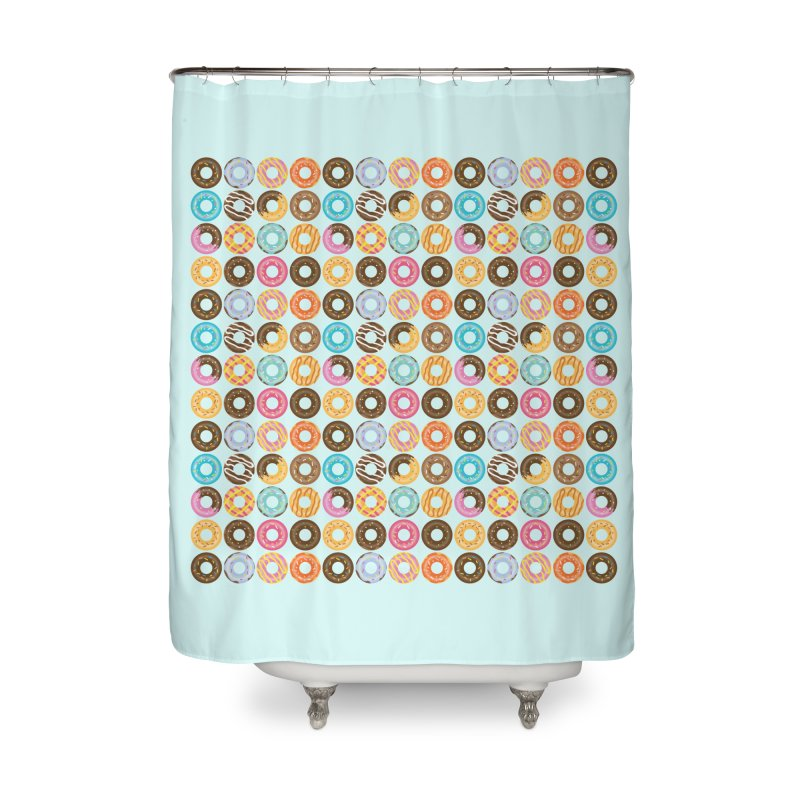 Yummy Donut Home Shower Curtain by Beryl Design Shop