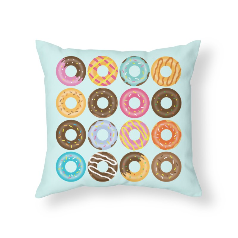 Yummy Donut Home Throw Pillow by Beryl Design Shop