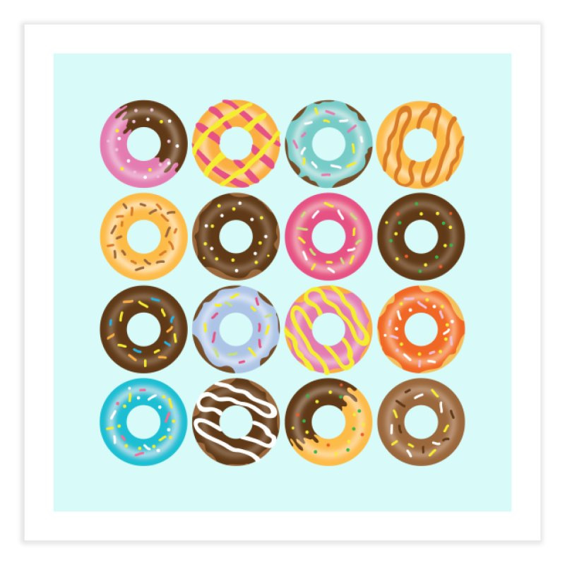Yummy Donut Home Fine Art Print by Beryl Design Shop