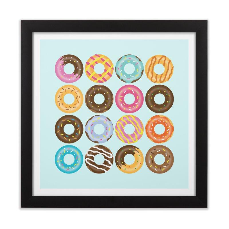 Yummy Donut Home Framed Fine Art Print by Beryl Design Shop