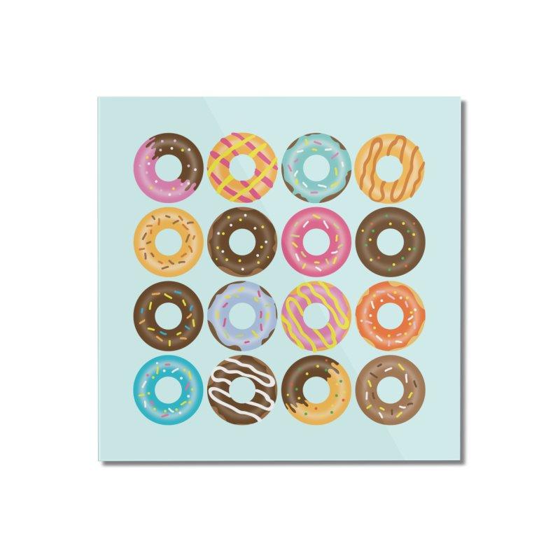 Yummy Donut Home Mounted Acrylic Print by Beryl Design Shop