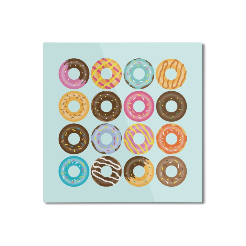 Yummy Donut Home Mounted Aluminum Print by Beryl Design Shop
