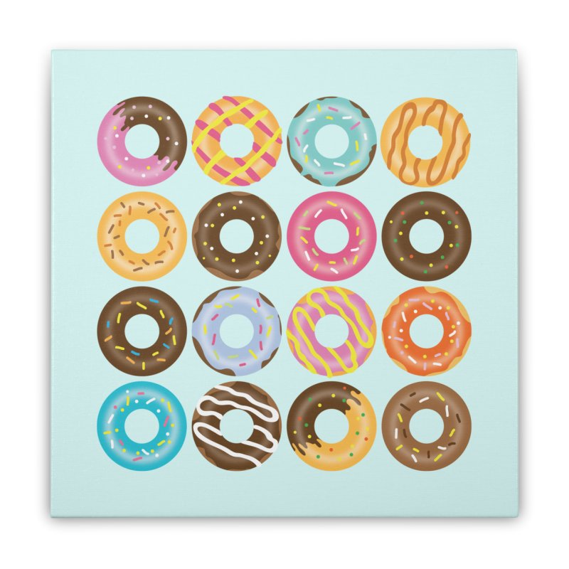 Yummy Donut Home Stretched Canvas by Beryl Design Shop