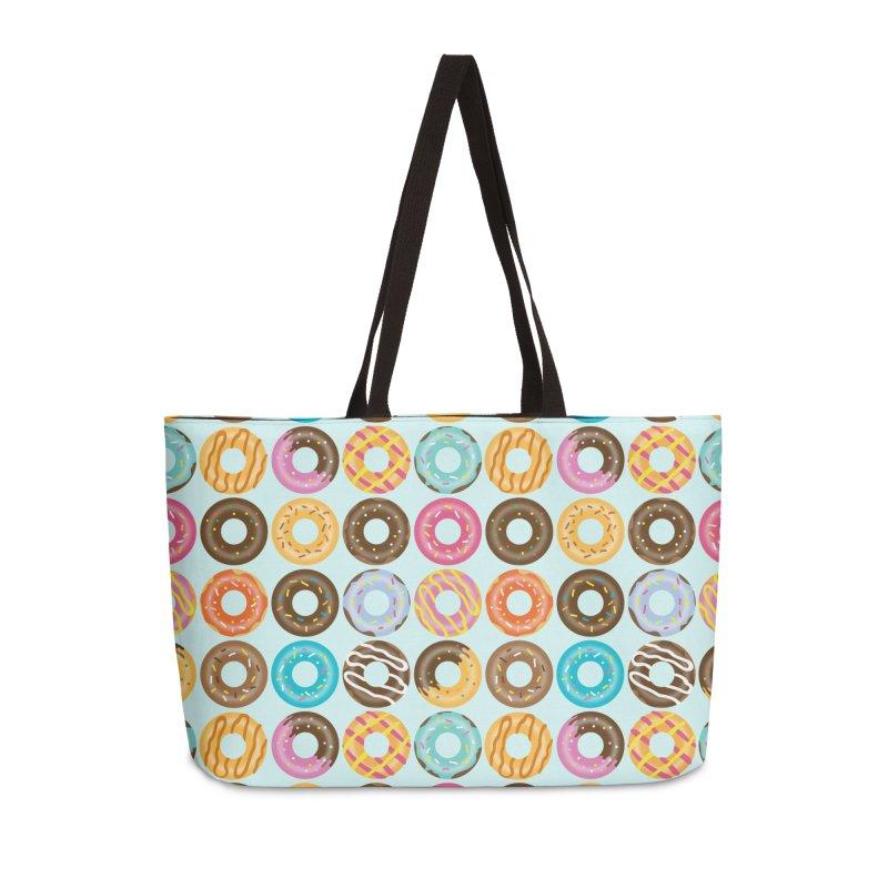 Yummy Donut Accessories Weekender Bag Bag by Beryl Design Shop