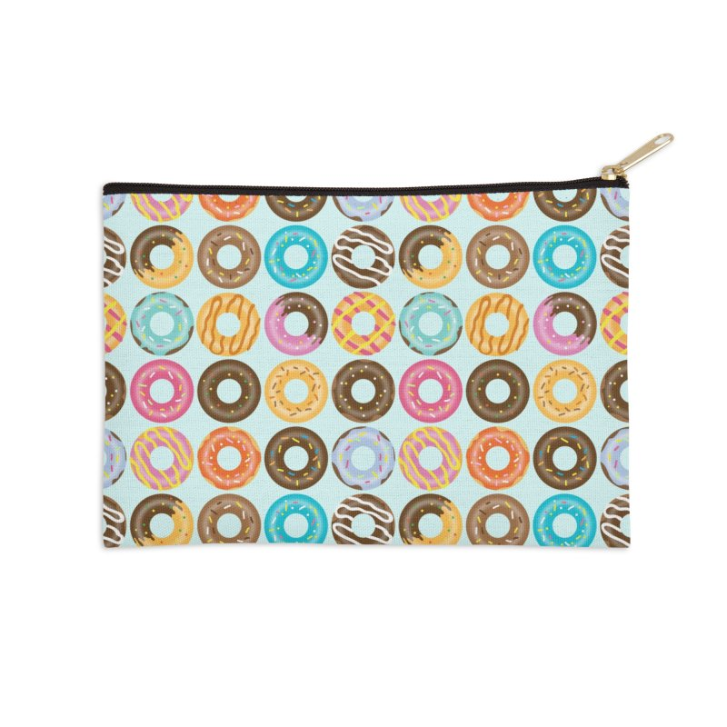 Yummy Donut Accessories Zip Pouch by Beryl Design Shop
