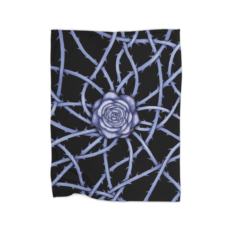Rose Adversity Home Fleece Blanket Blanket by Beryl Design Shop