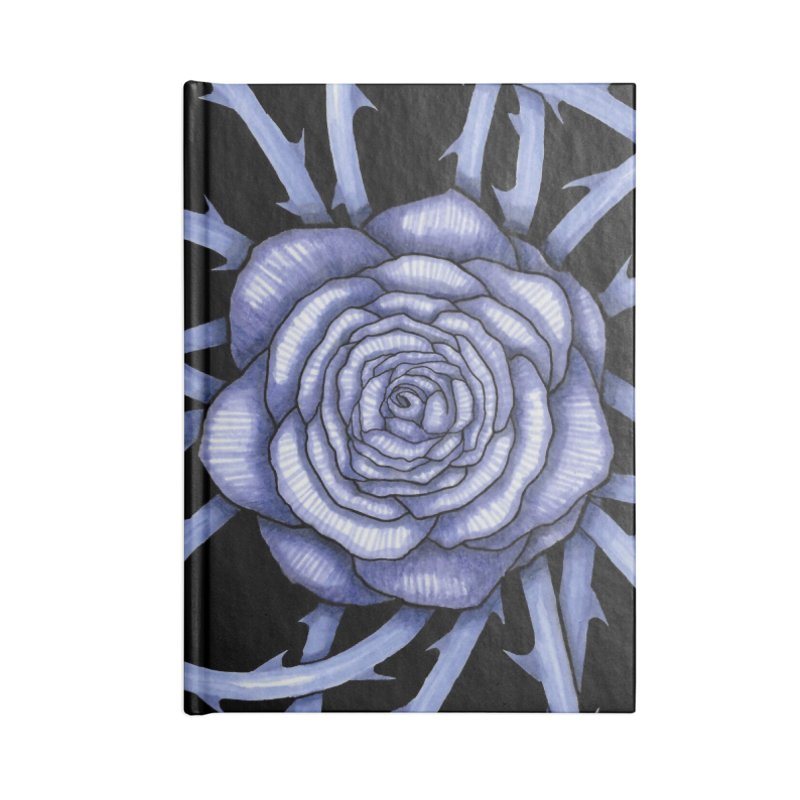 Rose Adversity Accessories Blank Journal Notebook by Beryl Design Shop
