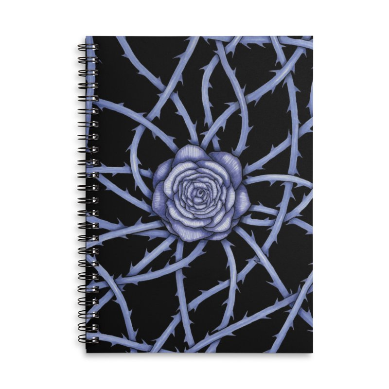 Rose Adversity Accessories Lined Spiral Notebook by Beryl Design Shop