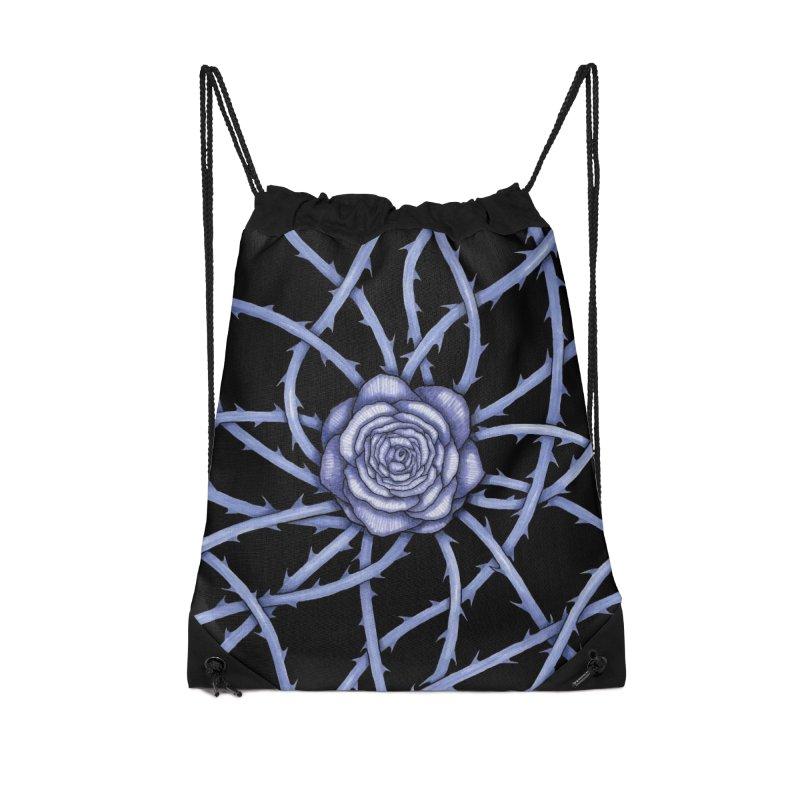 Rose Adversity Accessories Drawstring Bag Bag by Beryl Design Shop