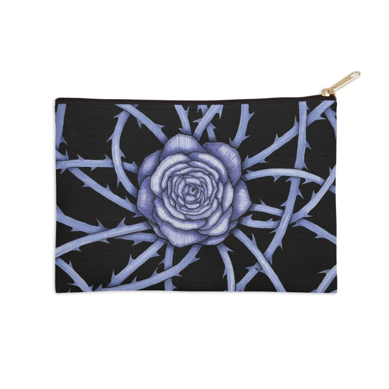 Rose Adversity Accessories Zip Pouch by Beryl Design Shop