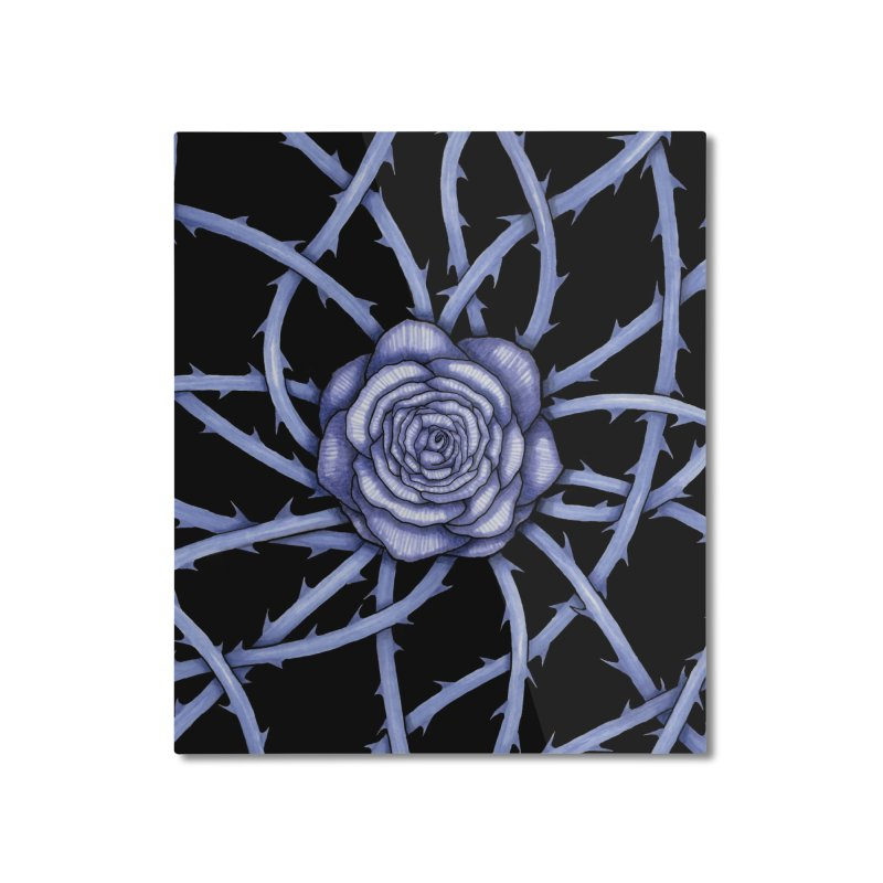 Rose Adversity Home Mounted Aluminum Print by Beryl Design Shop