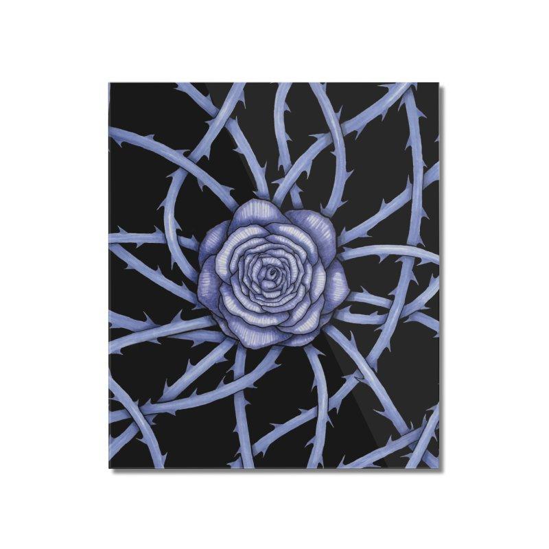 Rose Adversity Home Mounted Acrylic Print by Beryl Design Shop