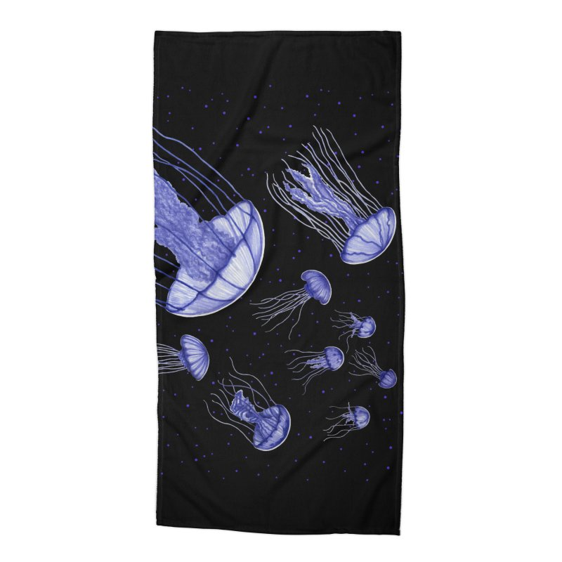 Jellyfish Accessories Beach Towel by Beryl Design Shop
