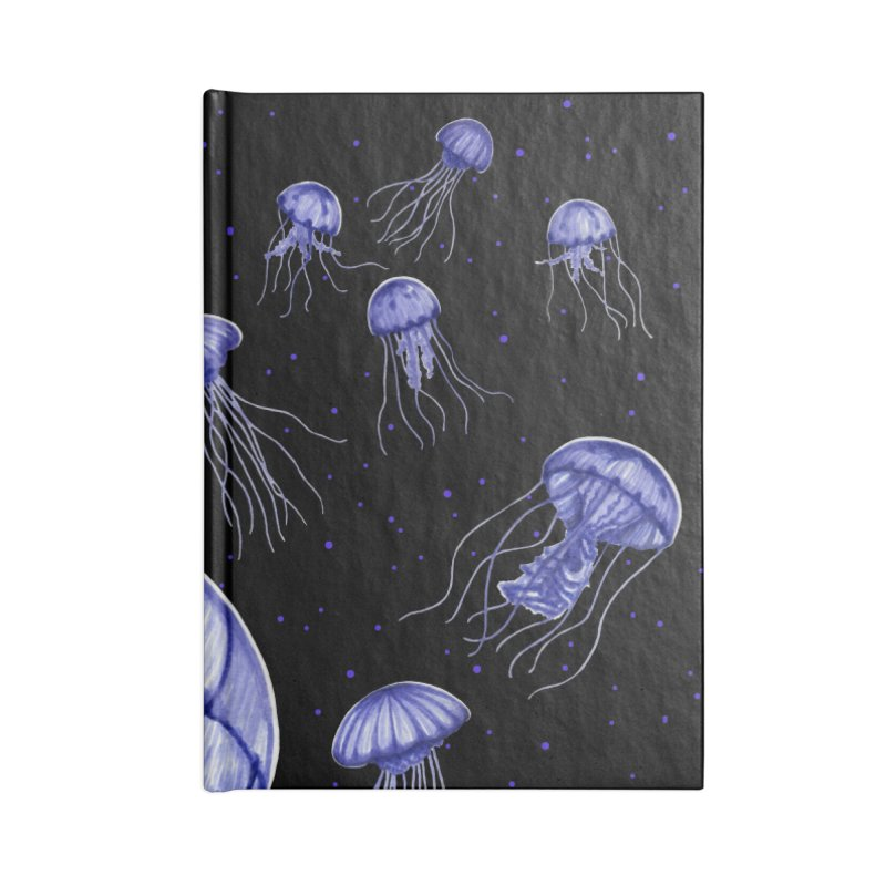 Jellyfish Accessories Blank Journal Notebook by Beryl Design Shop