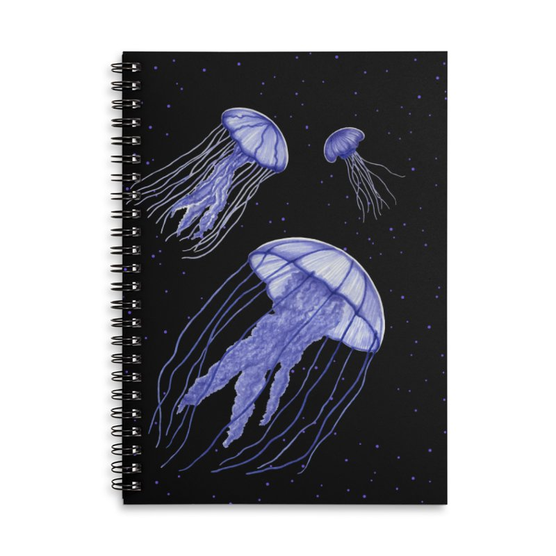 Jellyfish Accessories Lined Spiral Notebook by Beryl Design Shop