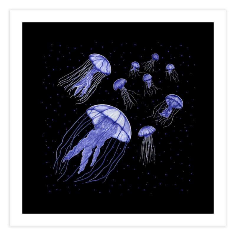 Jellyfish Home Fine Art Print by Beryl Design Shop