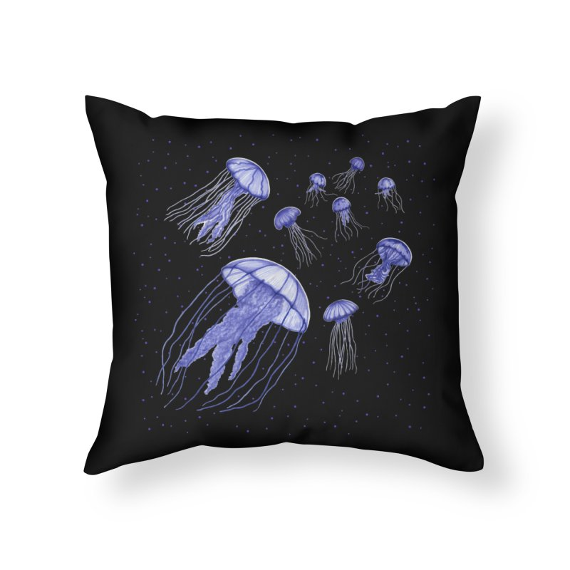 Jellyfish Home Throw Pillow by Beryl Design Shop