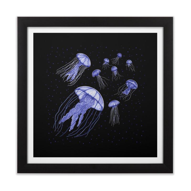 Jellyfish Home Framed Fine Art Print by Beryl Design Shop
